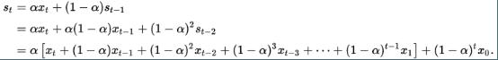 equação do método de suavização exponencial para previsão de demanda